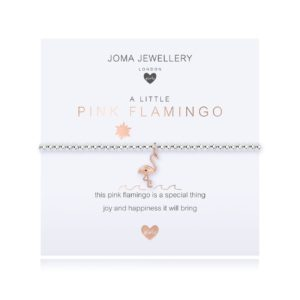 Joma Jewellery Childrens a little Pink Flamingo bracelet