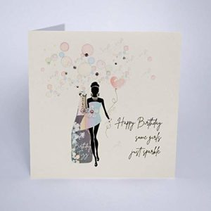 Five Dollar Shake Happy Birthday Some Girls Just Sparkle greetings card