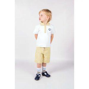 Beau KiD T Shirt & Shorts set in Lemon